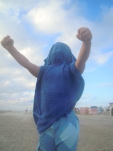 Sei dein eigener Held, auch wenn dein Cape dir die Sicht raubt. :)